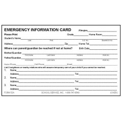 52A - Emergency Card w/Ibuprofen